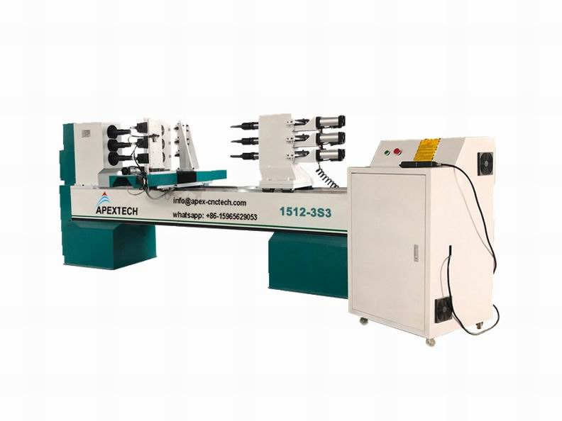 1512-3Axis Wood Turning Lathe Machines for Staircase Column on Sale