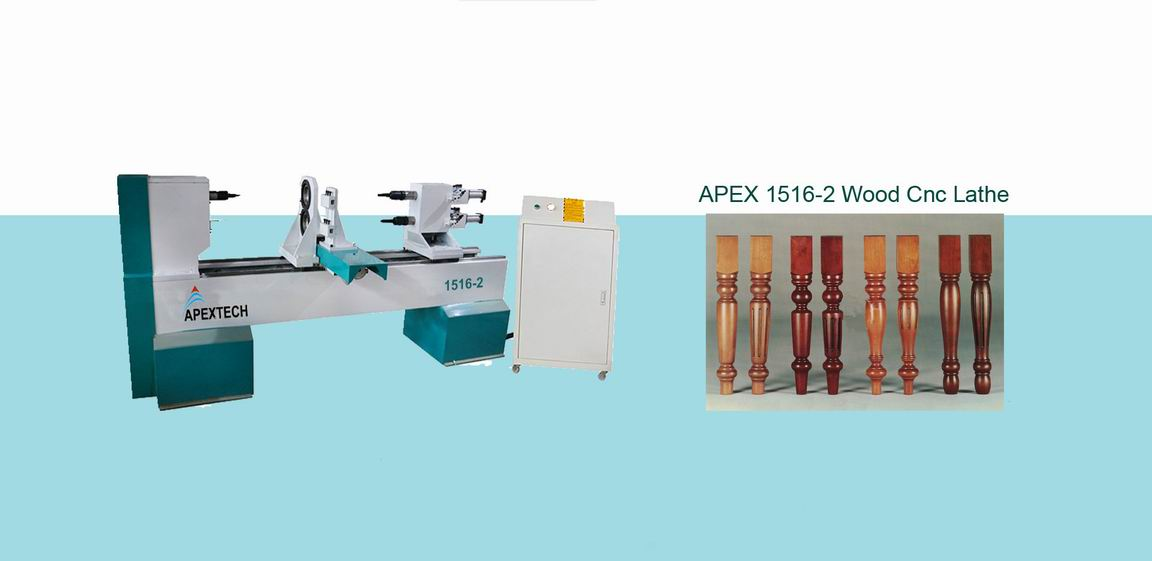 1516 Double Axis Wood Lathe Machine for Turning And Milling