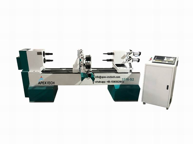 1516 New Design Automatic Spindle Carving CNC Wood Lathe Machine for Sale at Low Price
