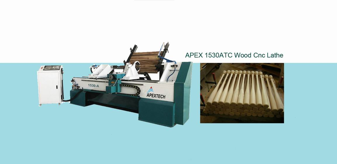 1530 CNC Wood Turning Lathe Machine with Full Automatic Feeding System for sale